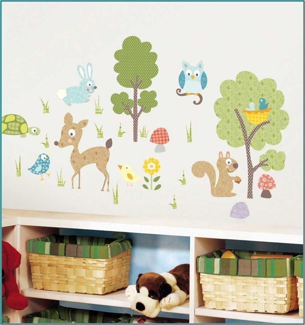 Wandtattoo Kinderzimmer Waldtiere Babyzimmer House und