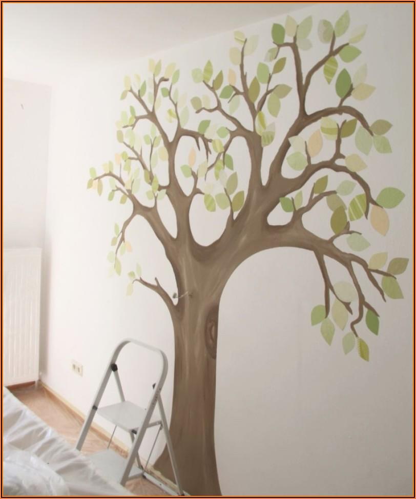 Baum Malen Kinderzimmer Wand
