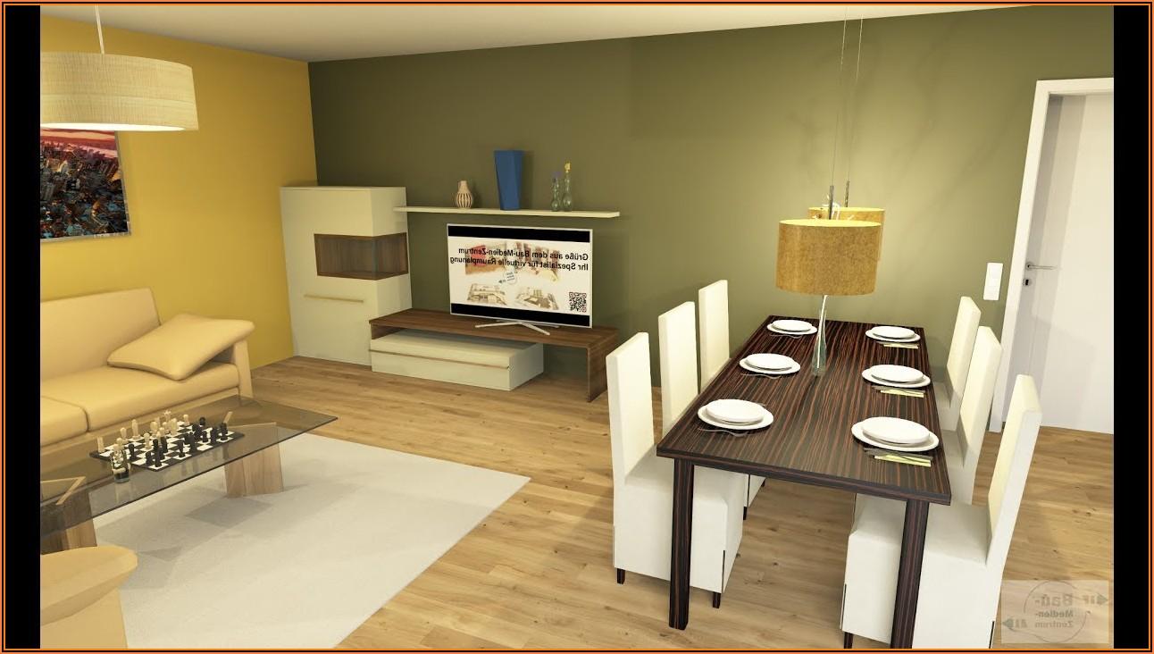 Küche Esszimmer Wohnzimmer In Einem Raum