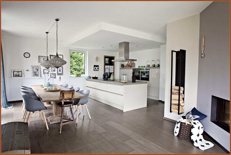 Küche Wohnzimmer Esszimmer Ein Raum