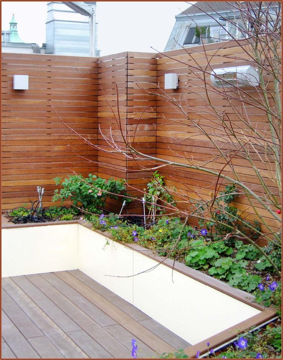 Sichtschutz Terrasse Holz Bilder