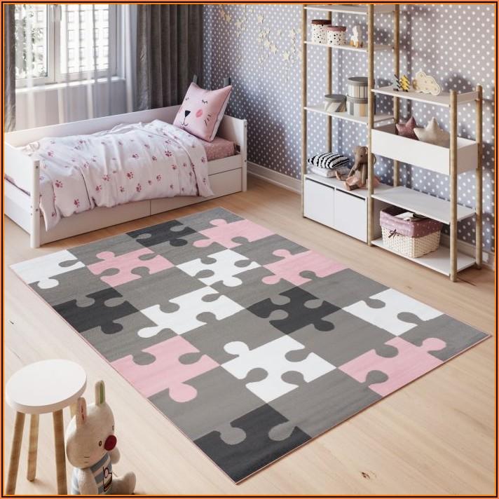 Teppich Rosa Grau Kinderzimmer