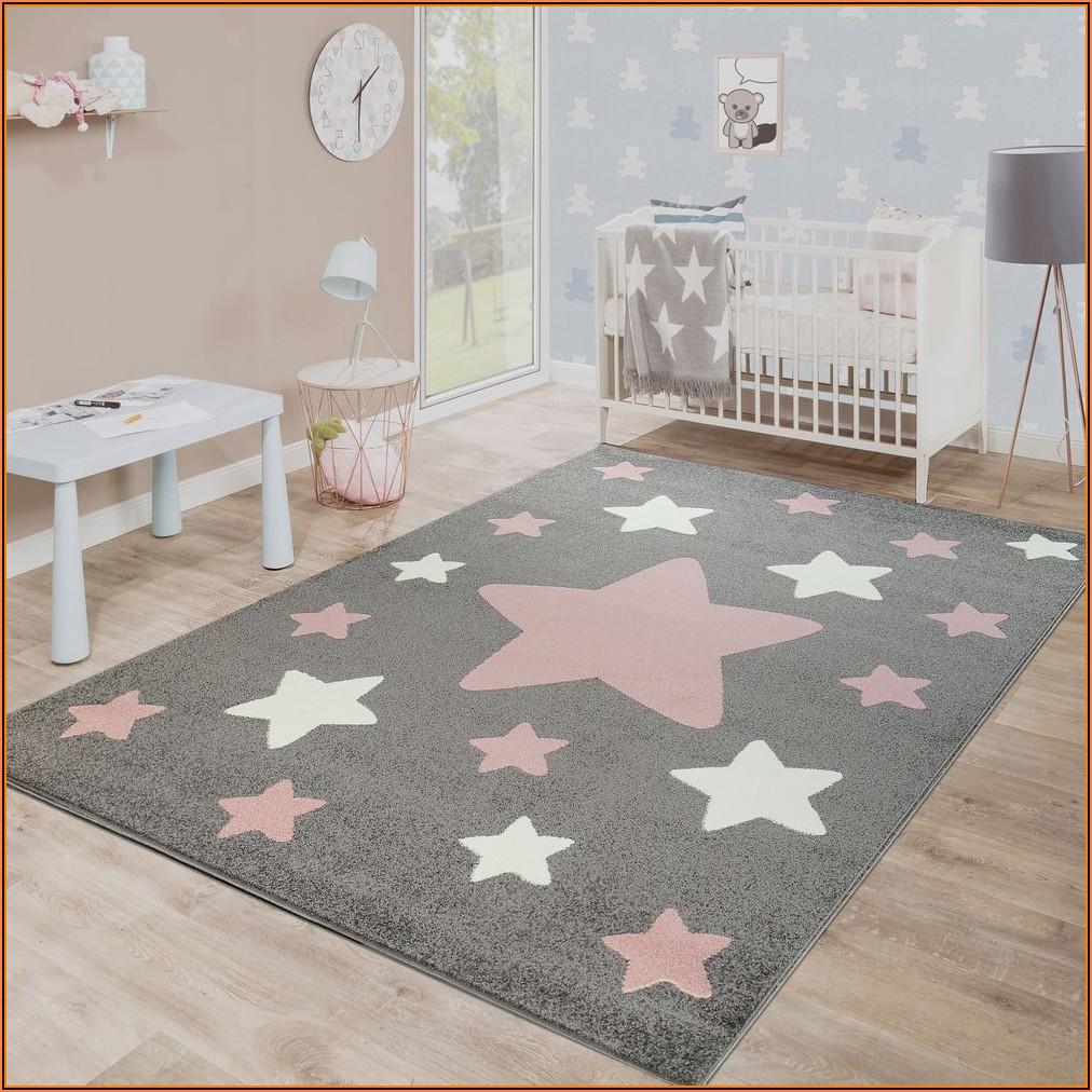 Teppich Sterne Grau Kinderzimmer