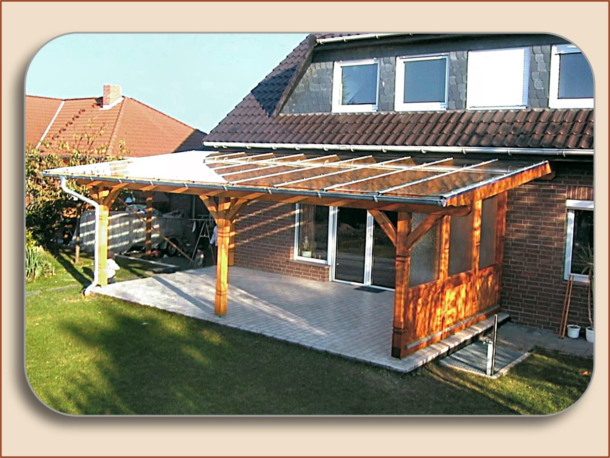 Terrassenüberdachung Holz Glas Bilder