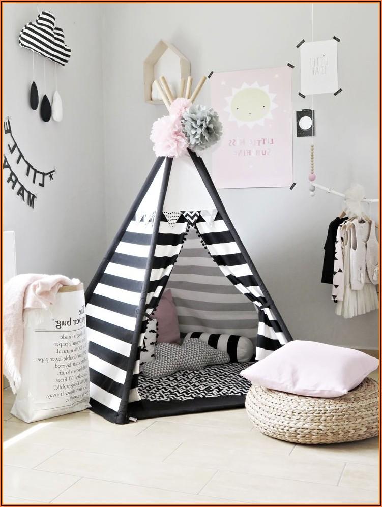 Tipi Zelt Weiß Kinderzimmer