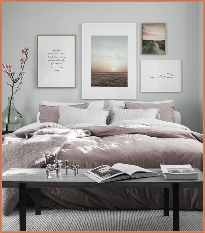 Bilderwand Schlafzimmer