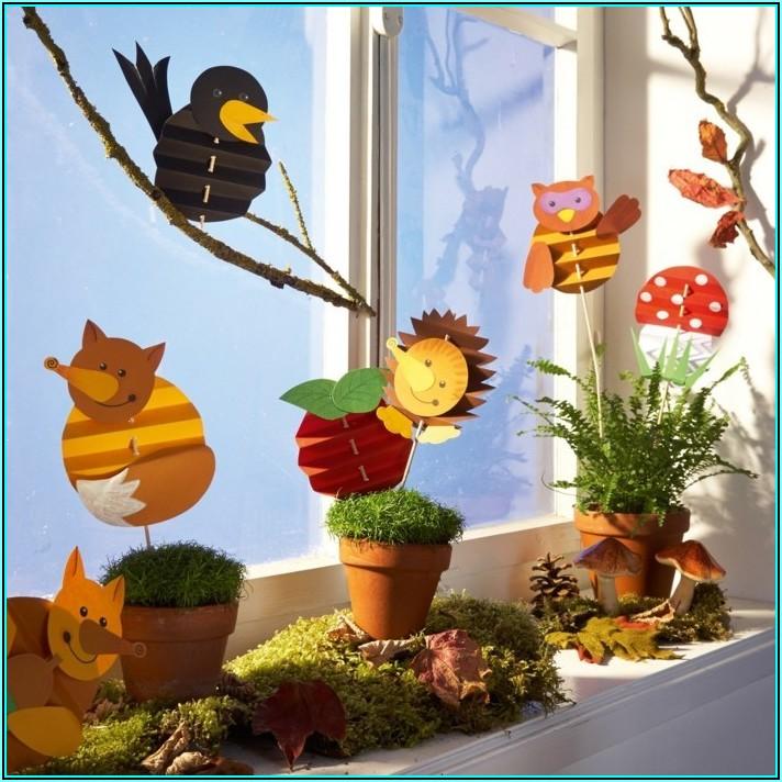 Herbstdeko Basteln Für Fenster Kinder