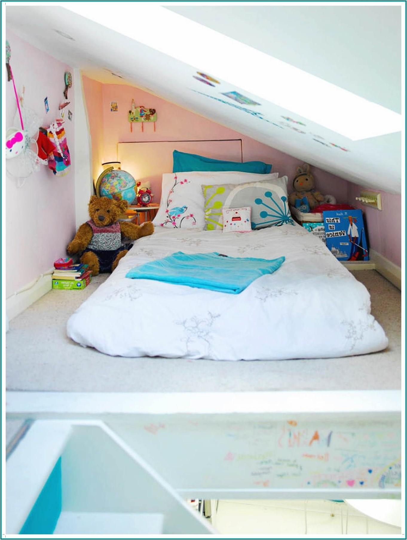 Kleines Jugendzimmer Mit Schräge Einrichten - Kinderzimme ...