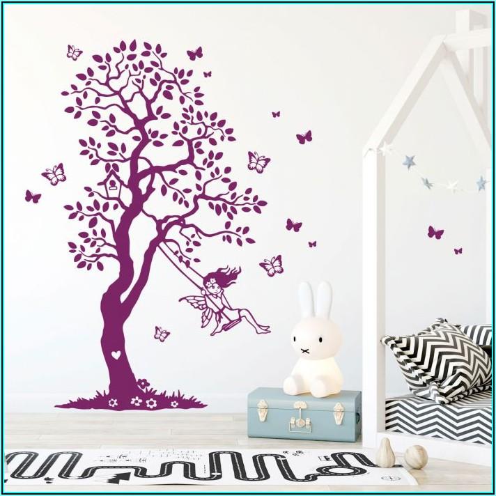 Wandtattoo Baum Kinderzimmer Weiss