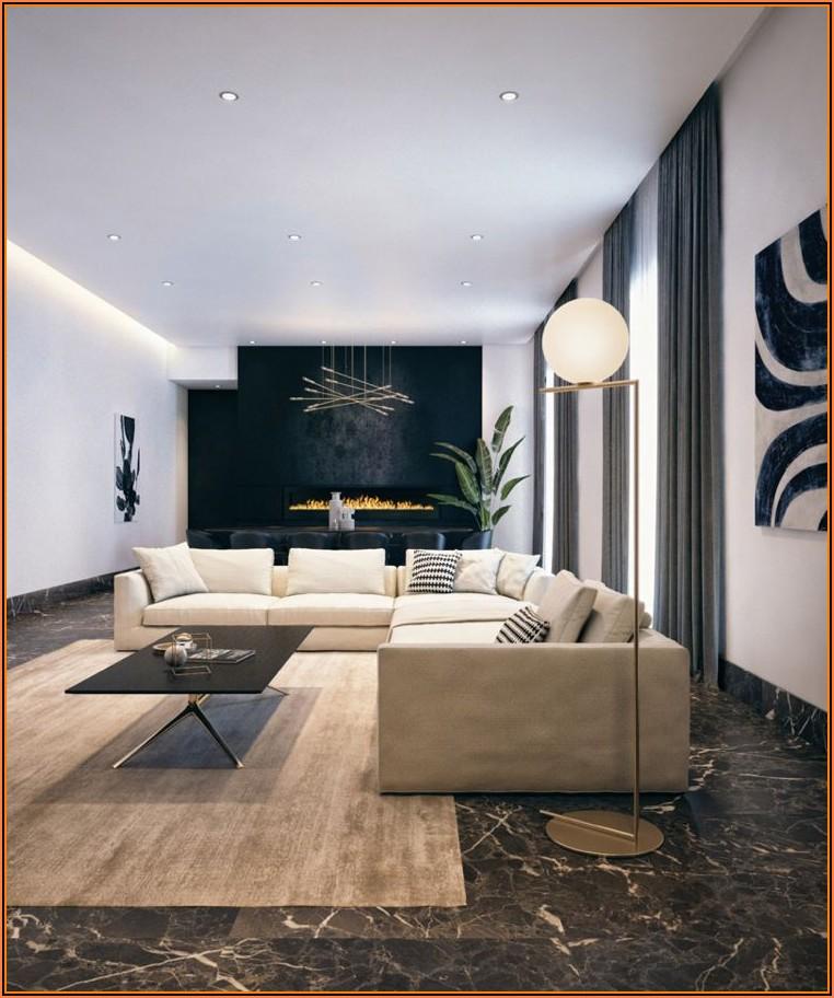 Wohnzimmer Ideen Schwarzer Boden