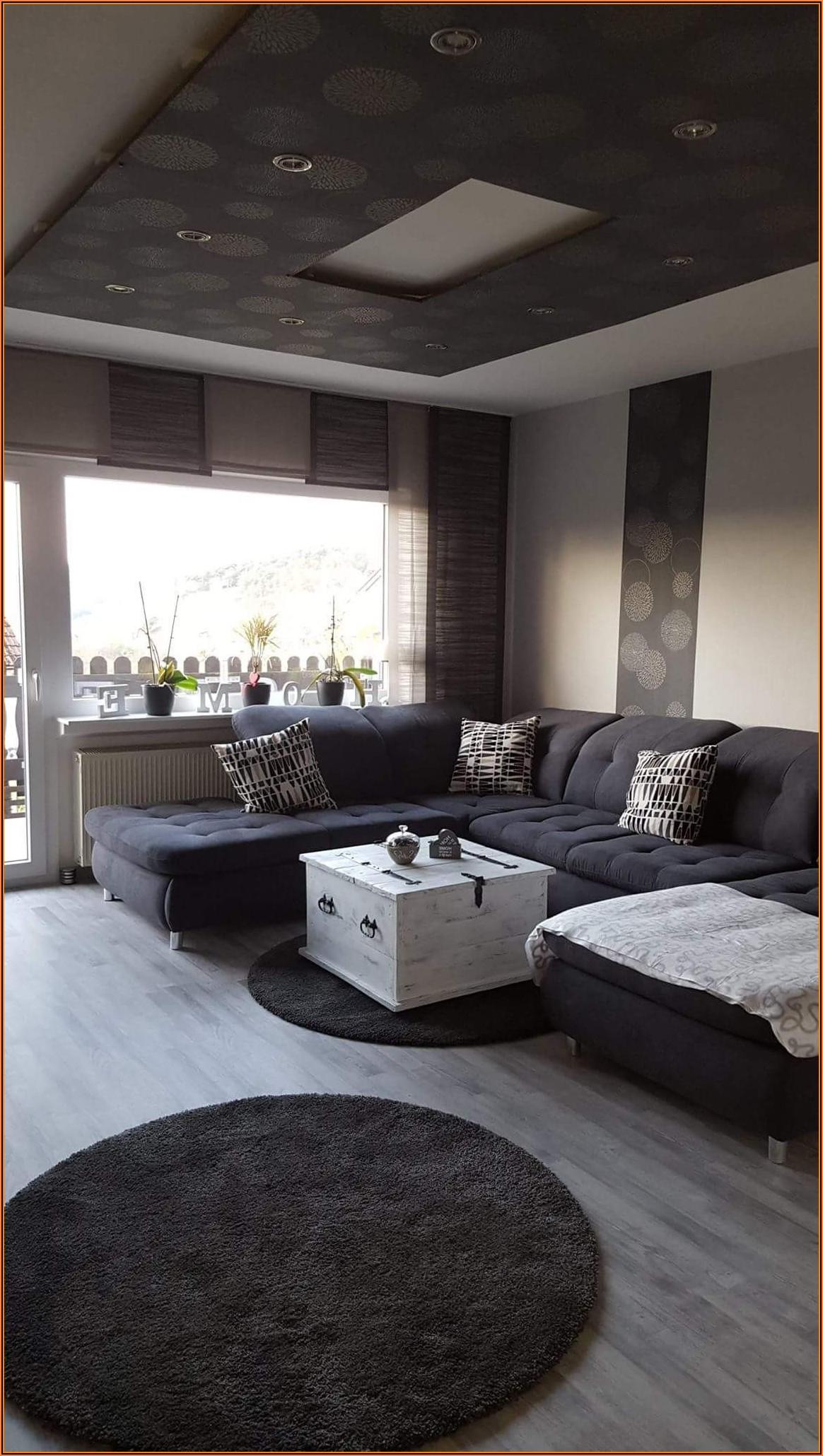 Wohnzimmer Ideen Weiß Schwarz