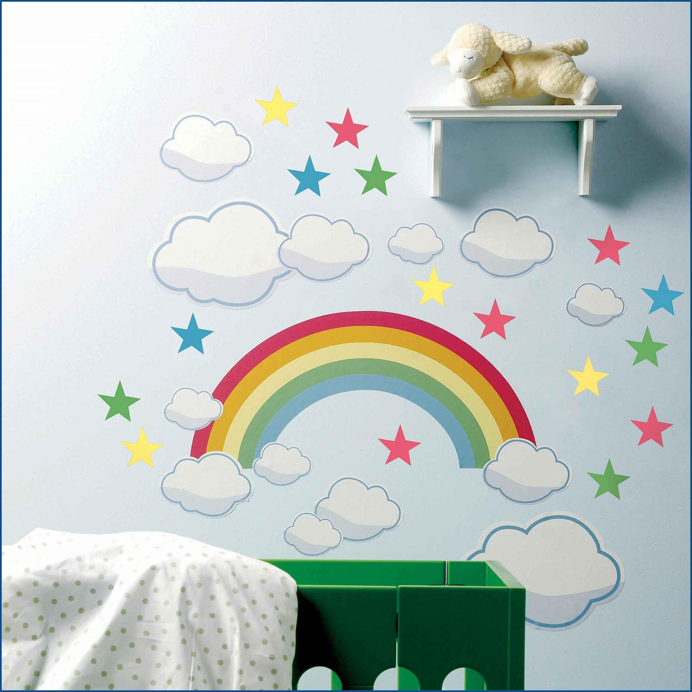 Babyzimmer Wand Wolken