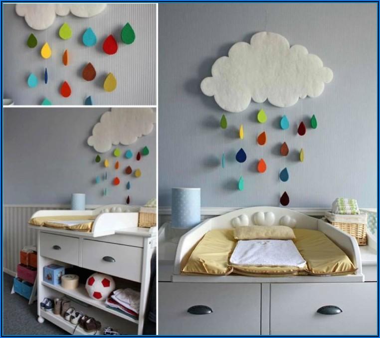 Babyzimmer Wanddeko Wolken