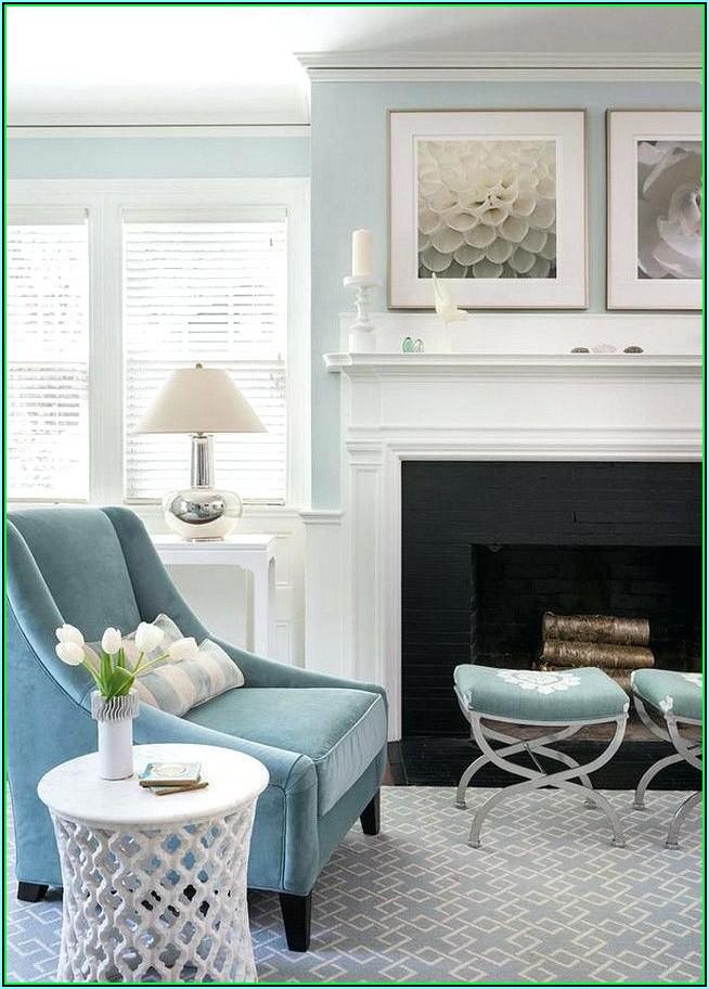 Blaue Deko Wohnzimmer