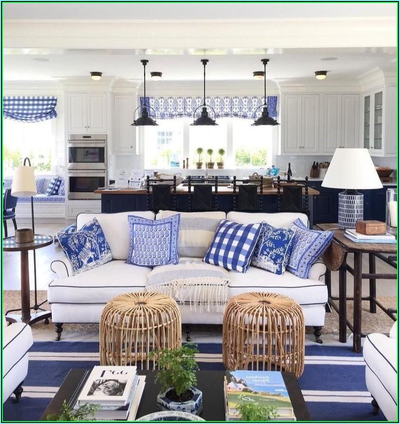 Blaue Dekoration Wohnzimmer