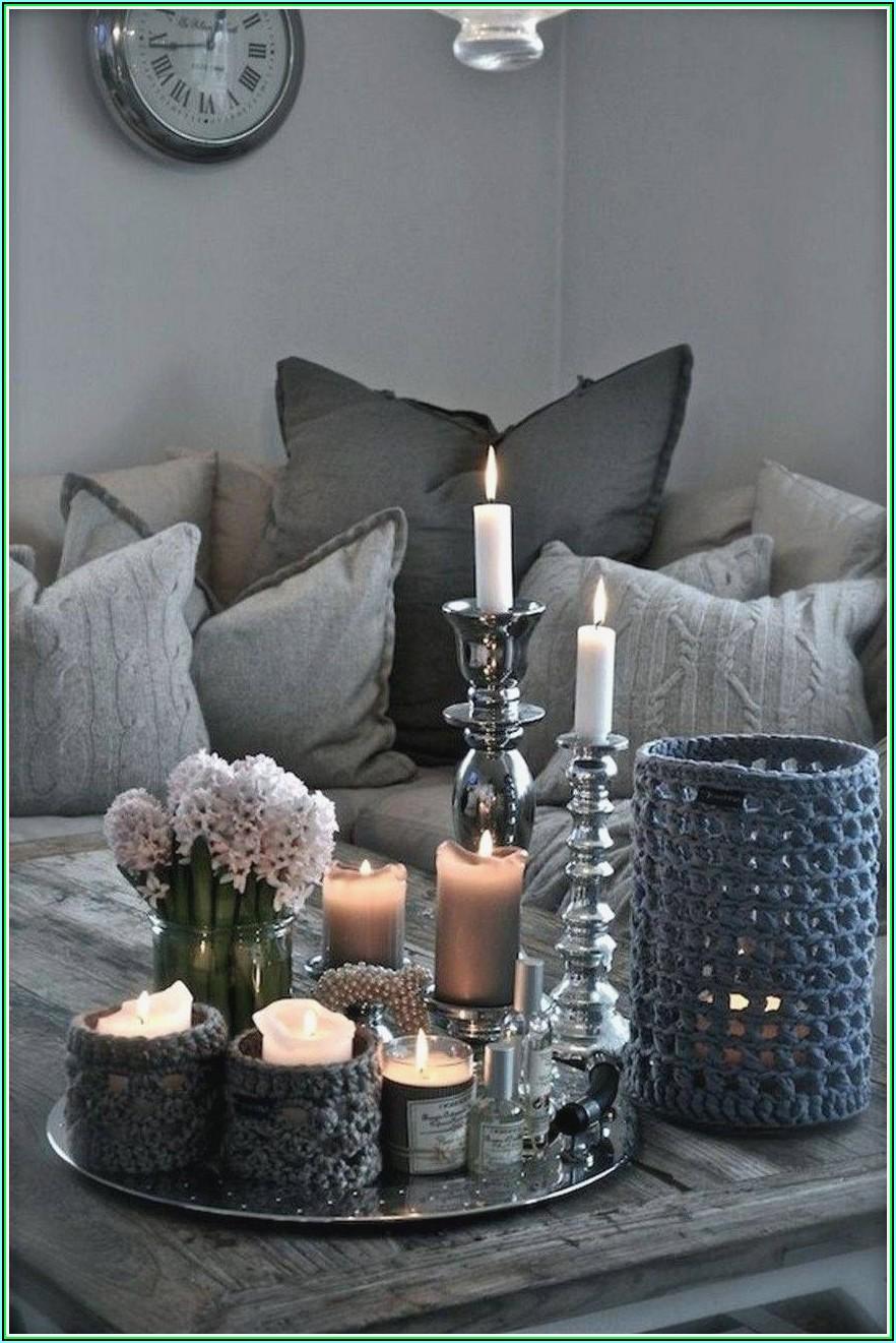 Deko Für Wohnzimmer In Silber
