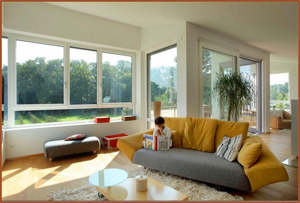 Deko Großes Wohnzimmerfenster