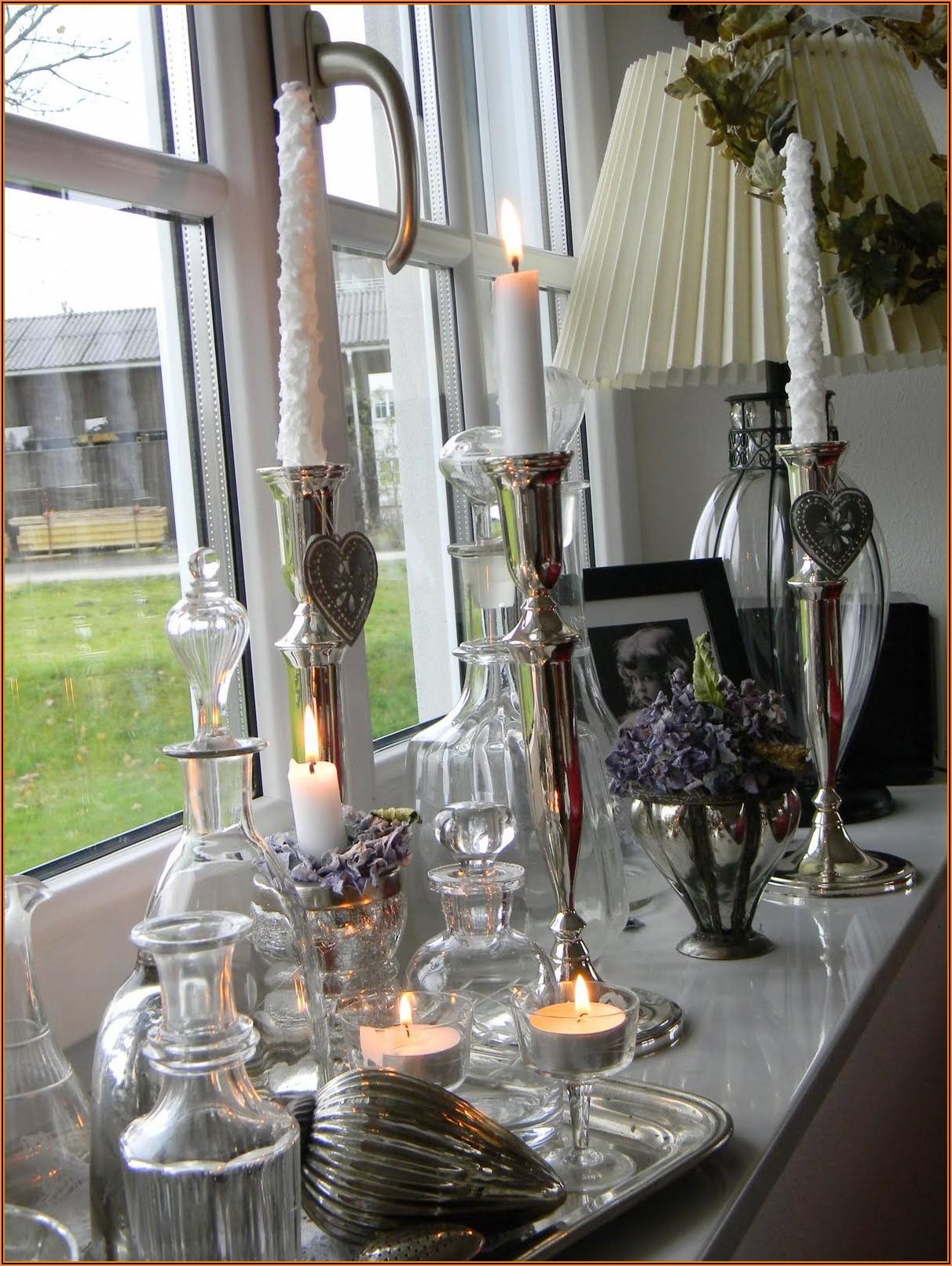 Deko Wohnzimmer Fensterbank