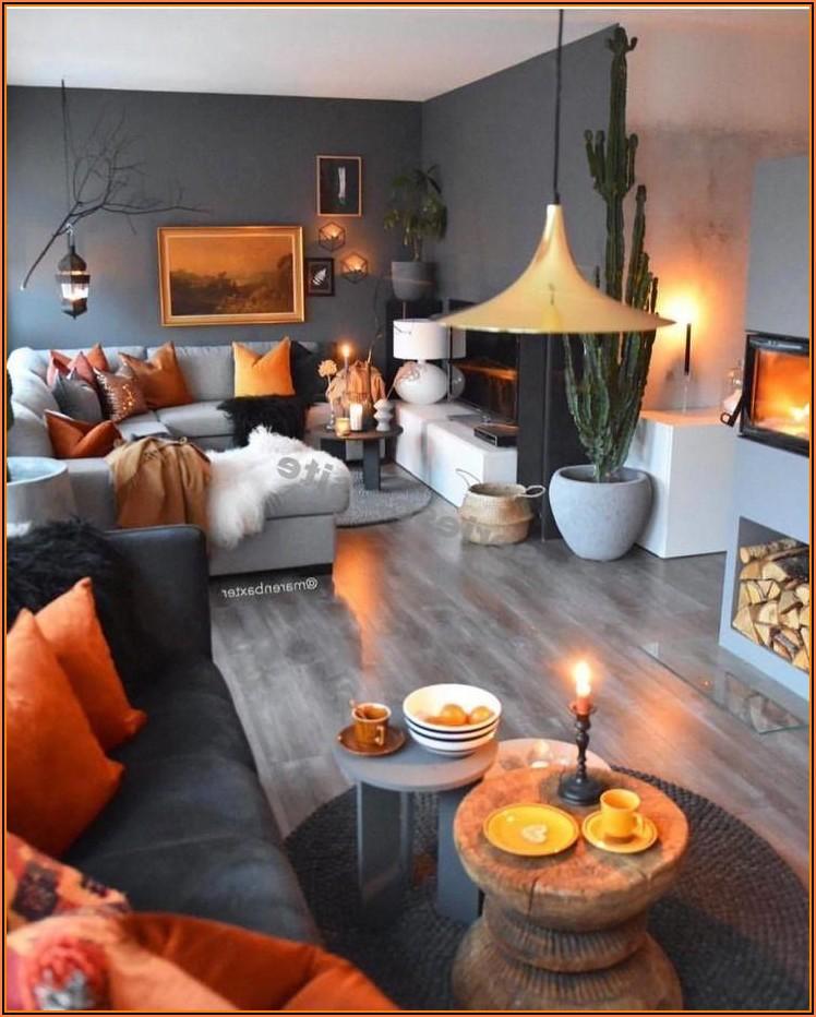 Deko Wohnzimmer Graue Couch