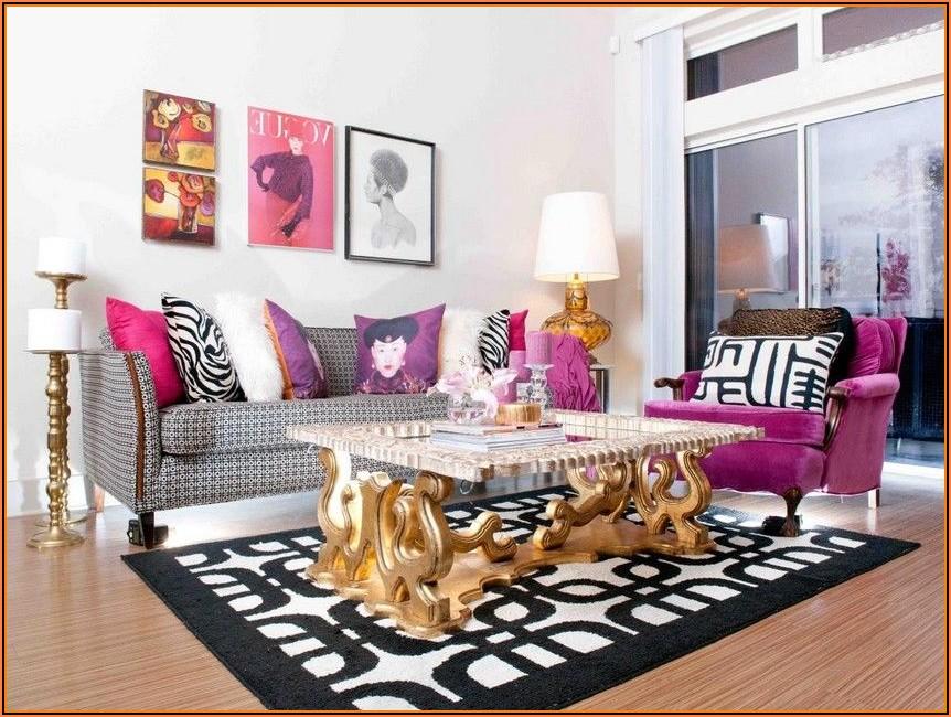 Deko Wohnzimmer Rosa Gold