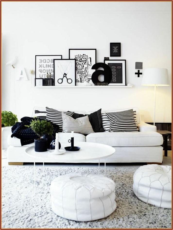 Dekoideen Wohnzimmer Schwarz Weiß