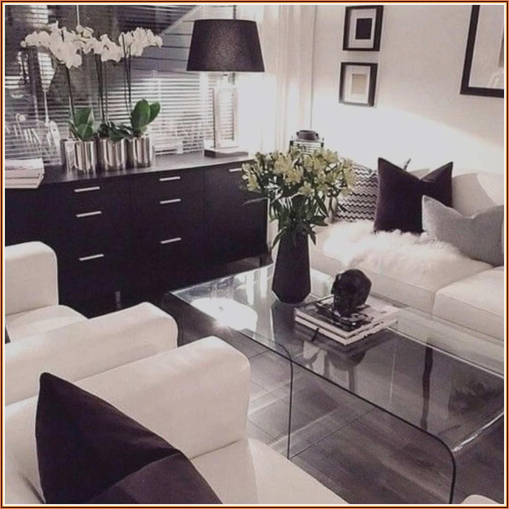 Dekoration Wohnzimmer Schwarz Weiß