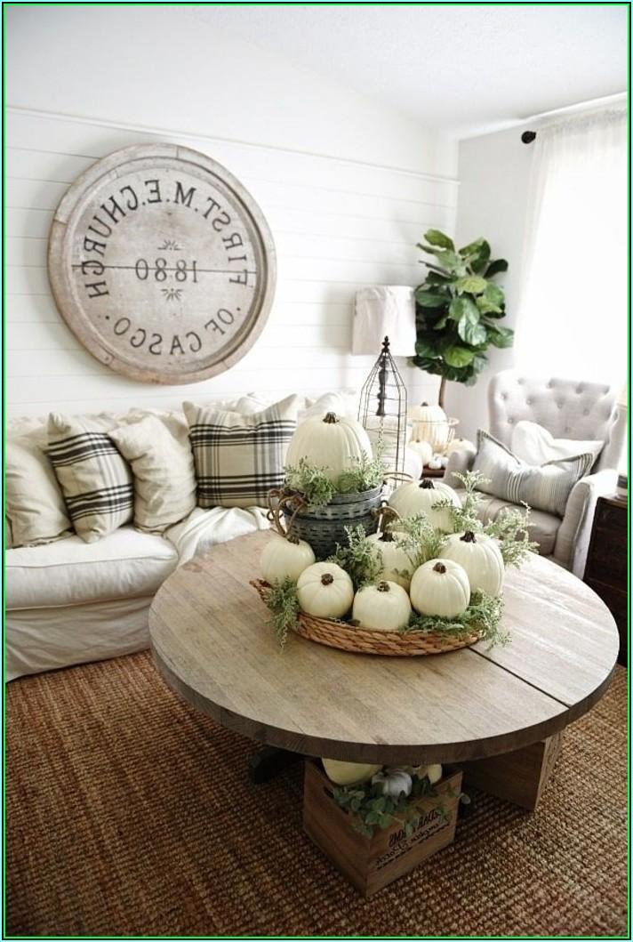 Herbstdeko Wohnzimmer