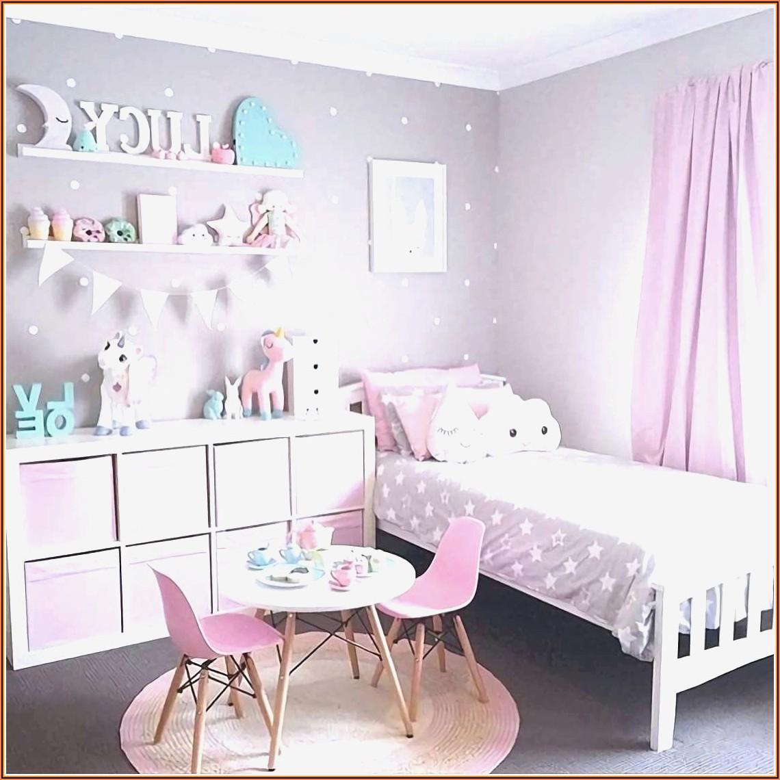 Kinderzimmer Mädchen Grün Rosa