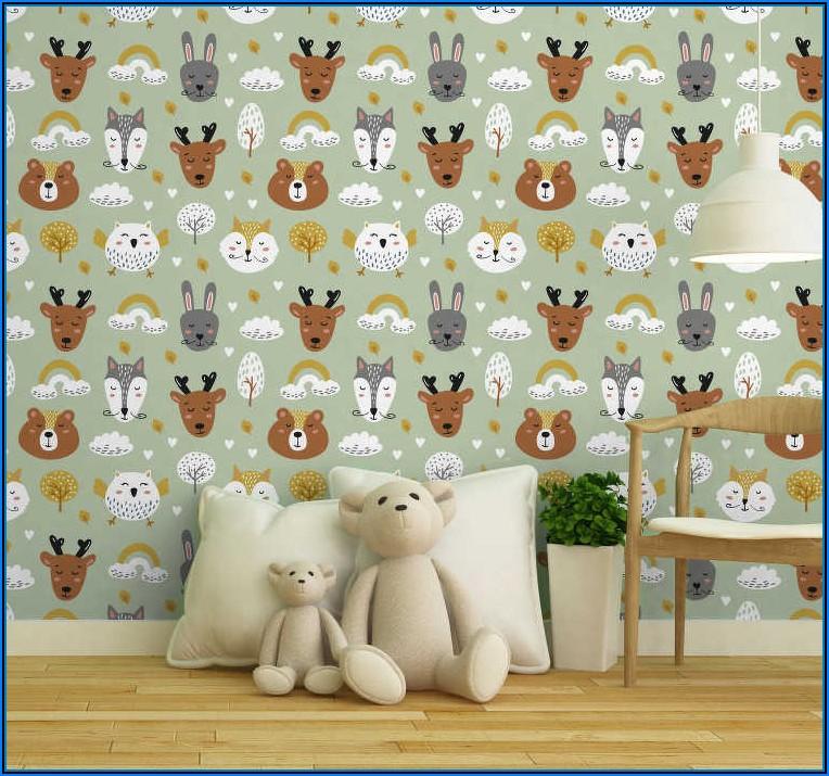 Kinderzimmer Tapete Tiere