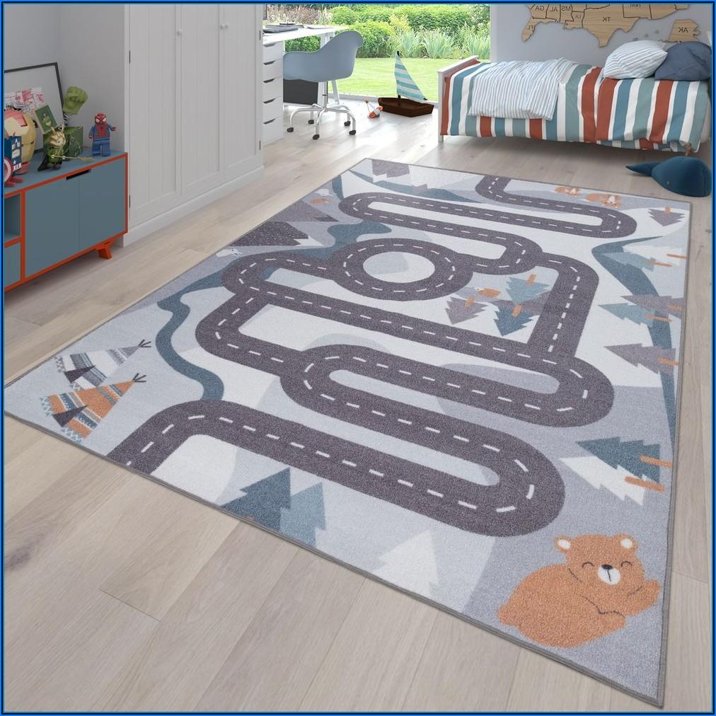 Kinderzimmer Teppich Beige