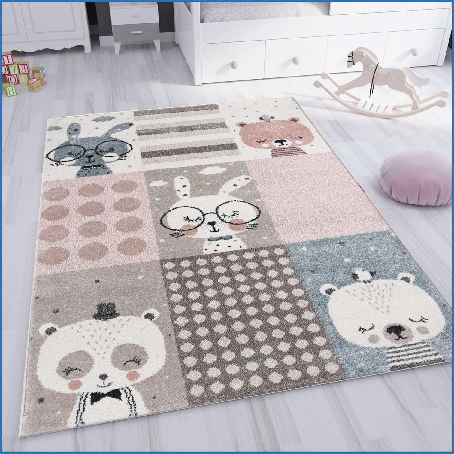 Kinderzimmer Teppich Braun