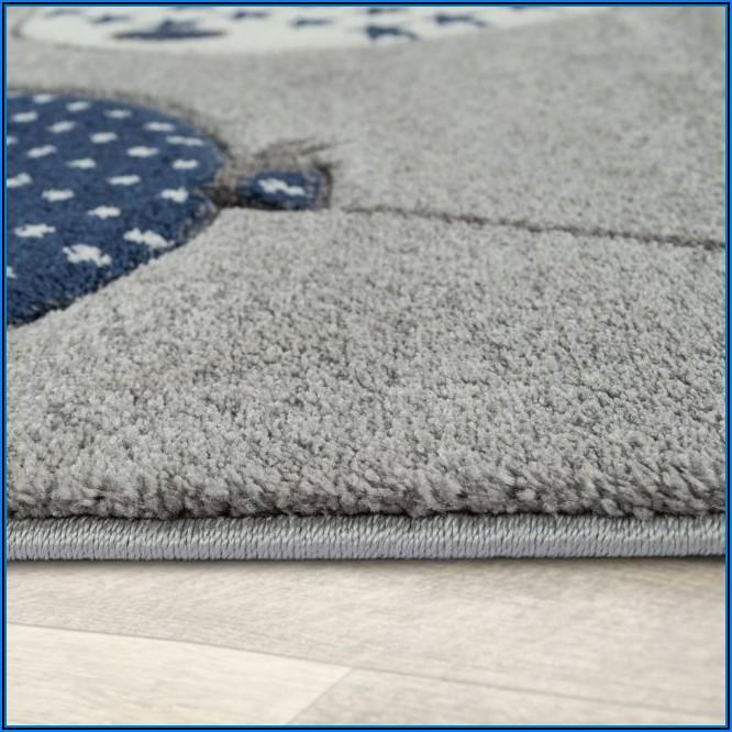 Kinderzimmer Teppich Sterne Blau