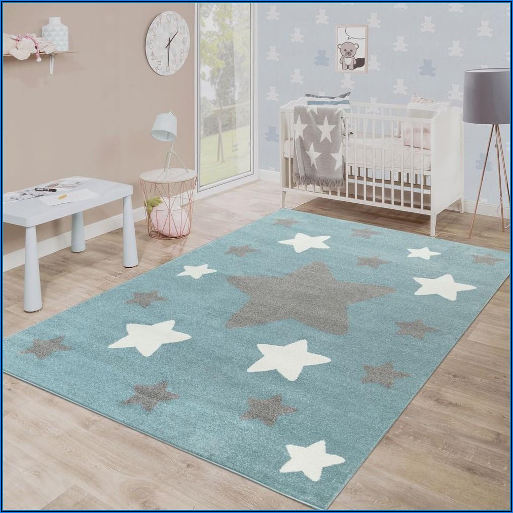 Kinderzimmer Teppich Sterne