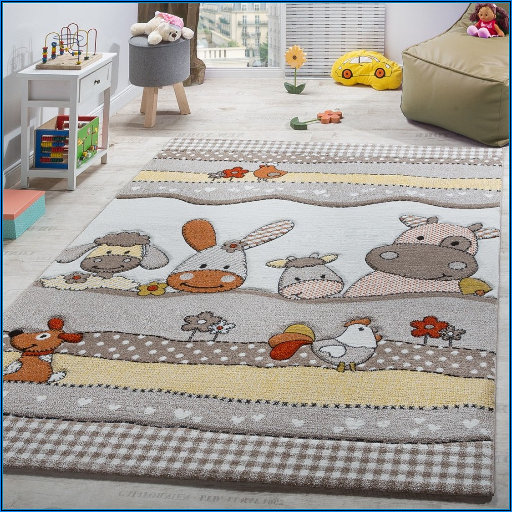 Kinderzimmer Teppich Tiere