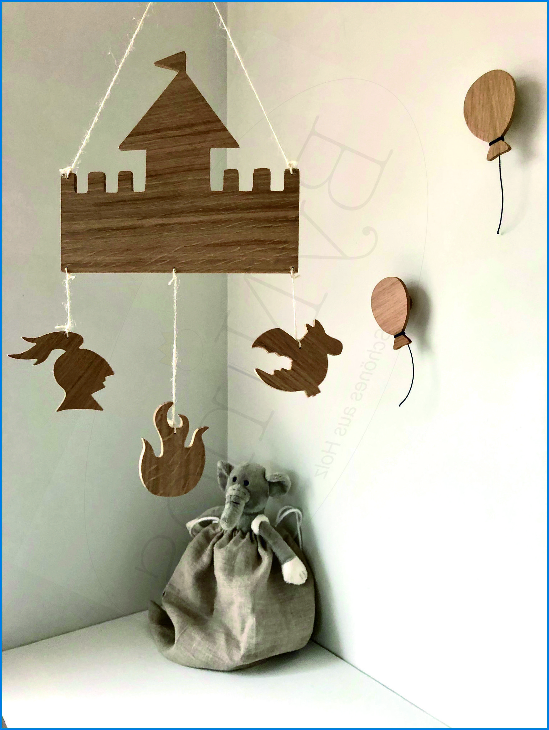 Kinderzimmer Wanddeko Holz