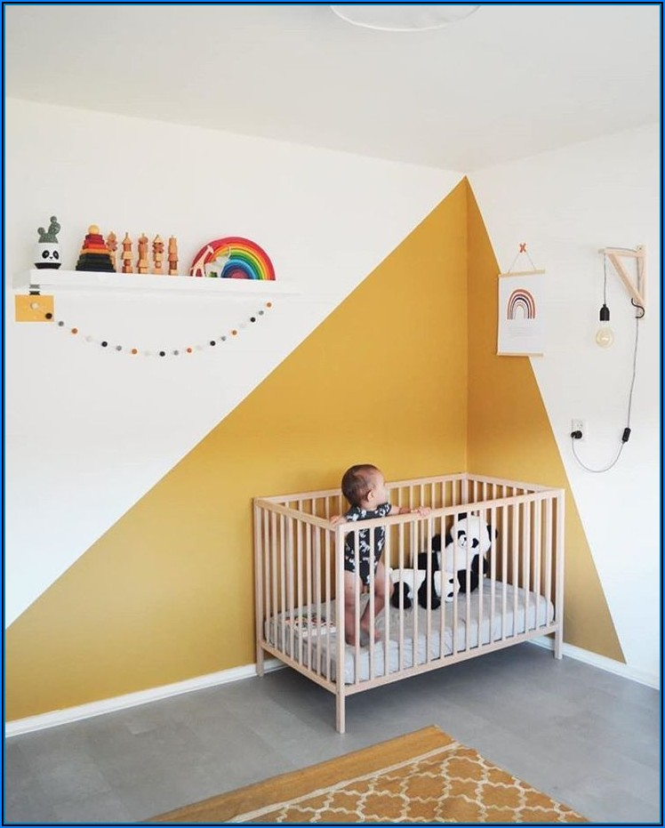 Kinderzimmer Wandfarbe Gelb
