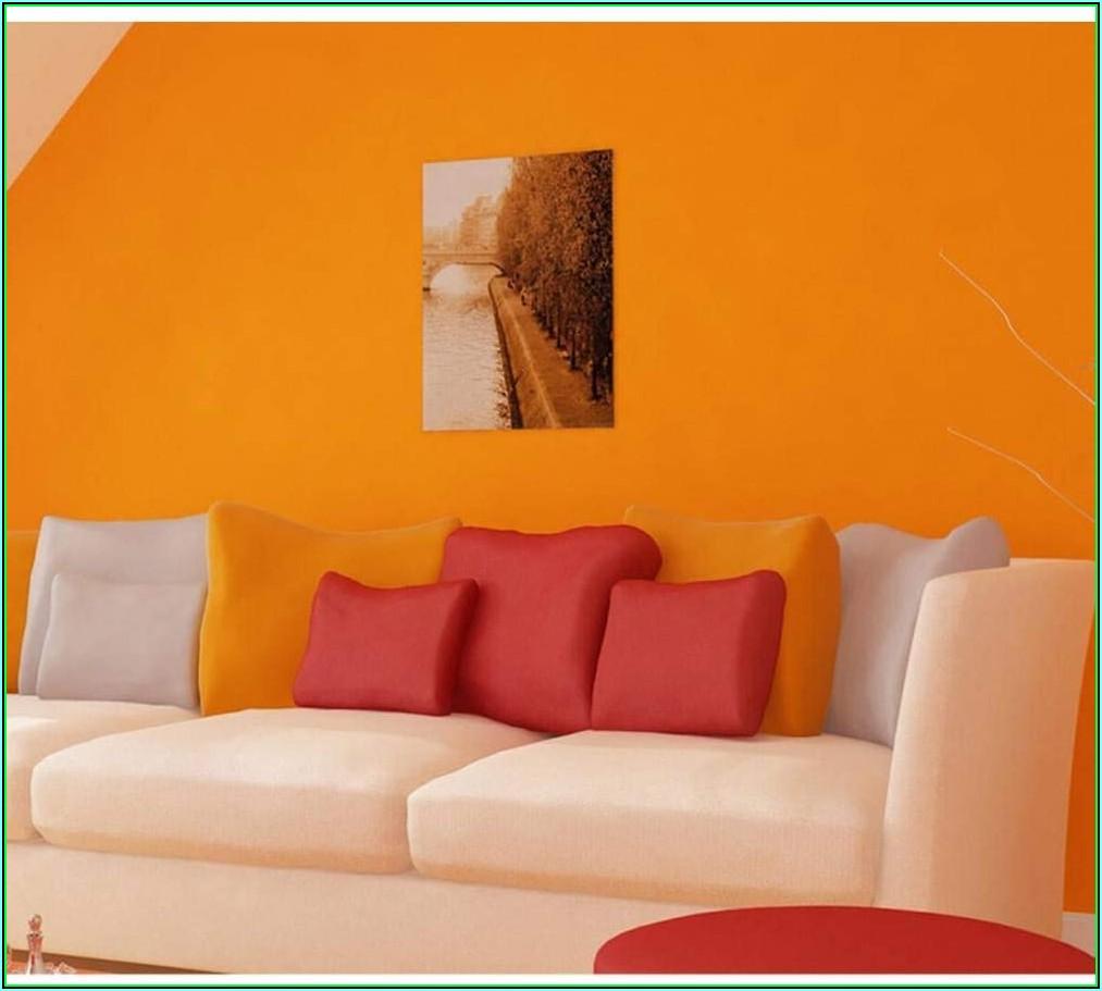 Orange Dekoration Wohnzimmer