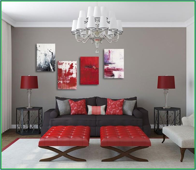 Rote Deko Für Wohnzimmer