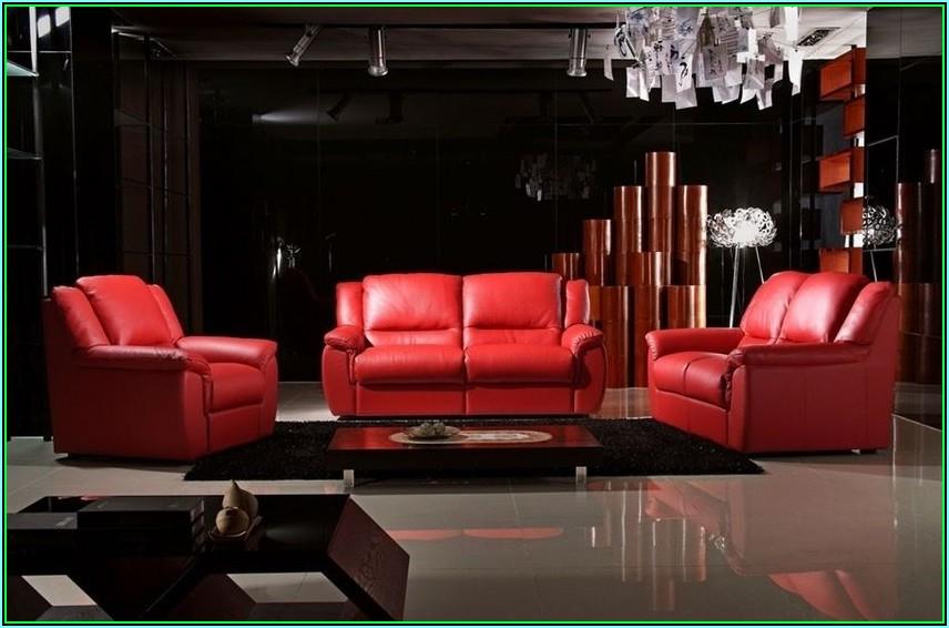 Rote Deko Wohnzimmer