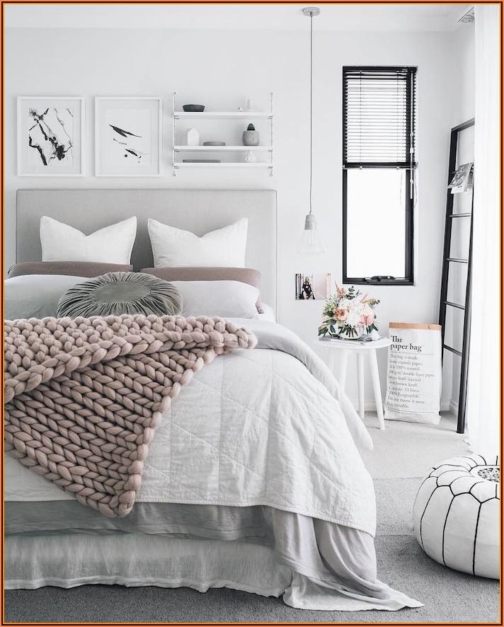 Schlafzimmer Deko Schwarz Weiß