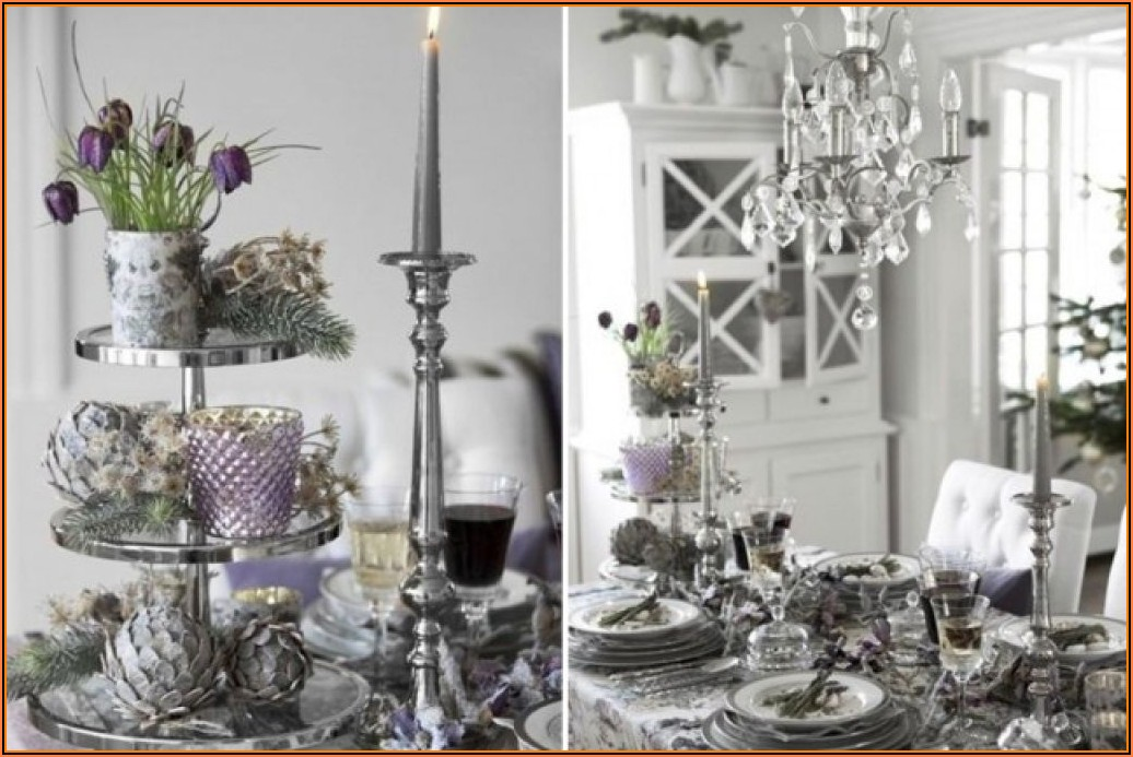 Silber Dekoration Wohnzimmer