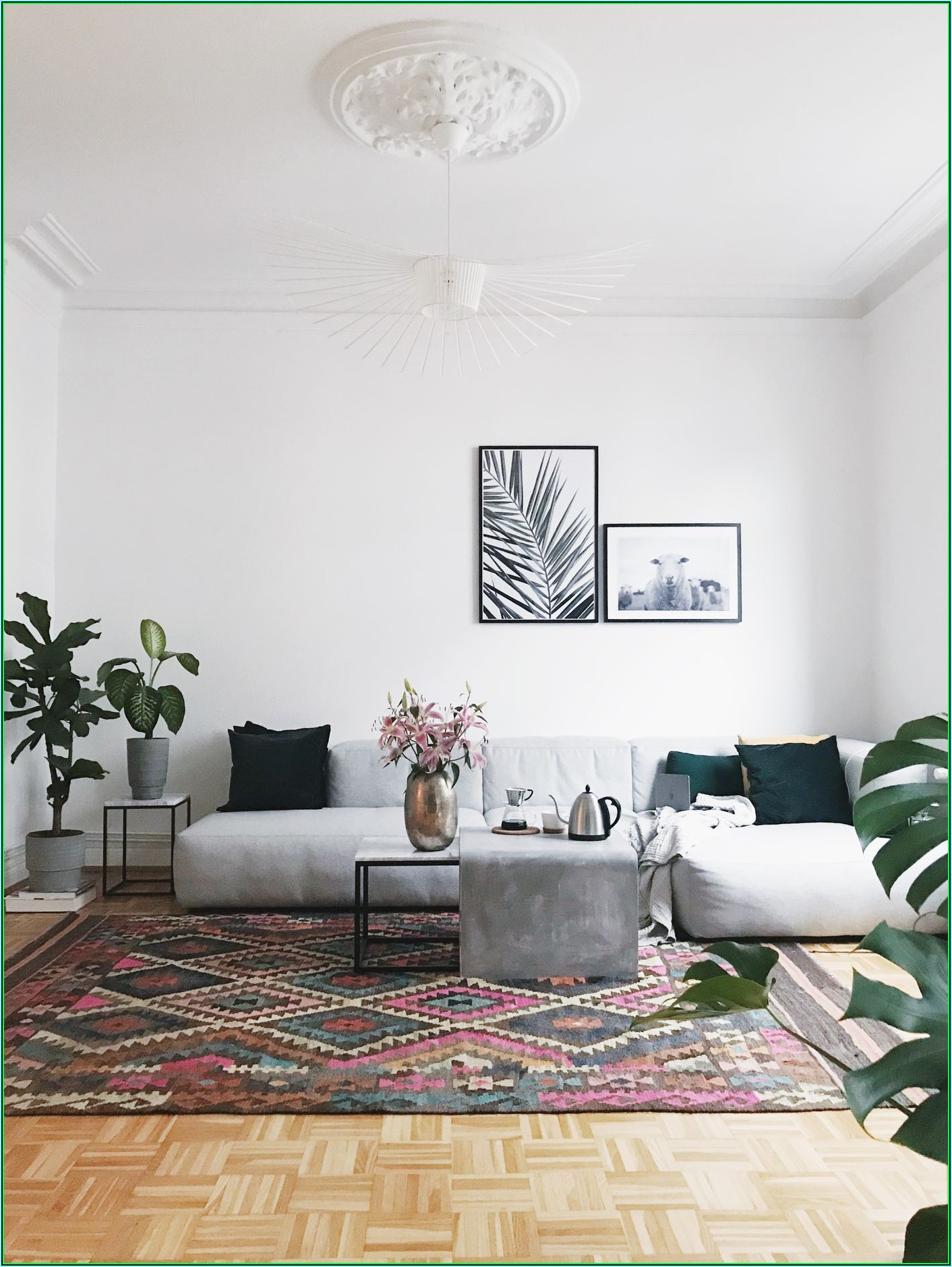 Weiße Deko Wohnzimmer