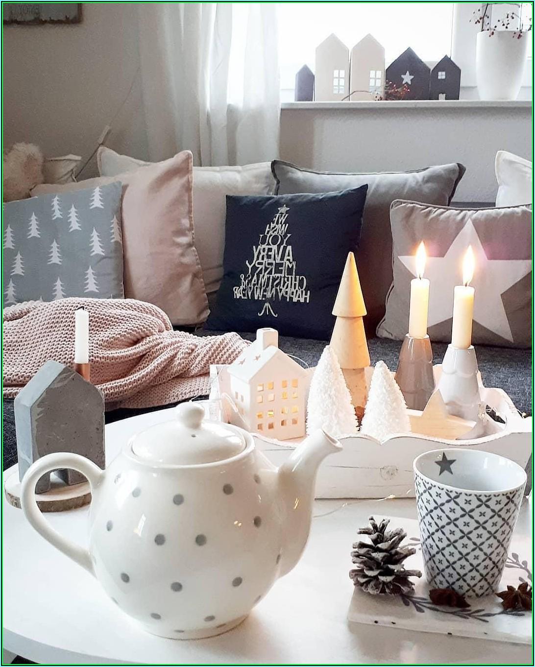 Weihnachtliche Wohnzimmer Deko