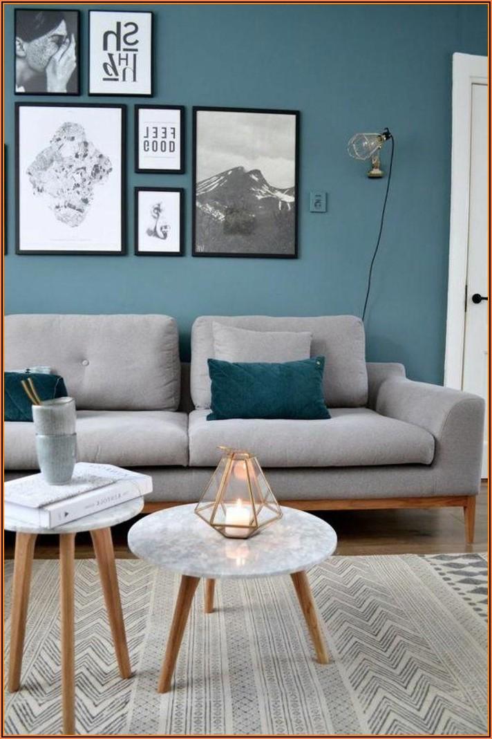 Wohnzimmer Deko Blau Grau