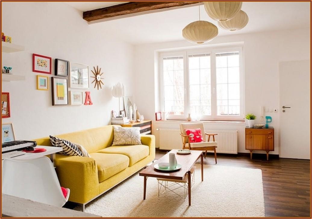 Wohnzimmer Deko Gelb