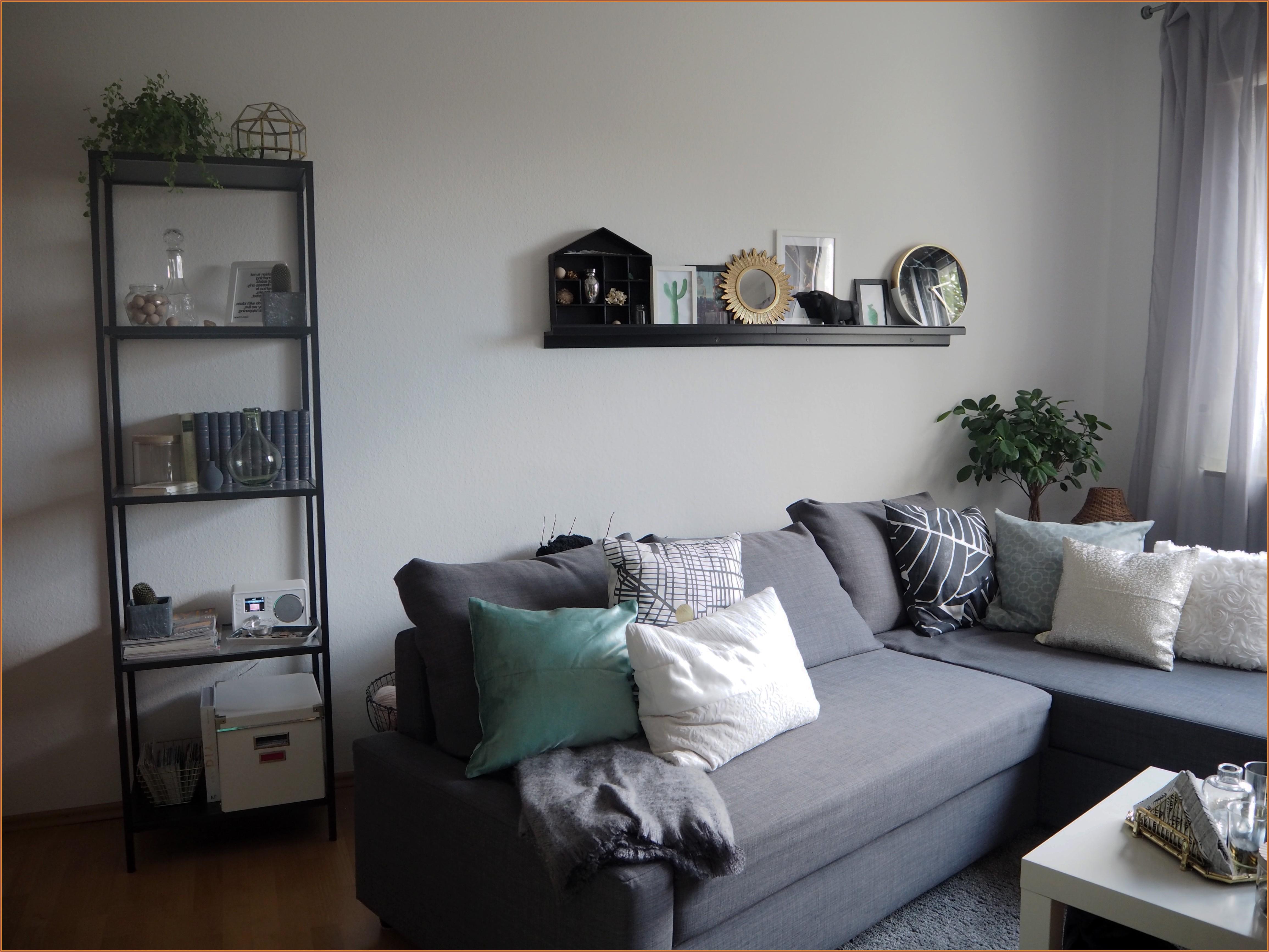 Wohnzimmer Deko Grau Grün