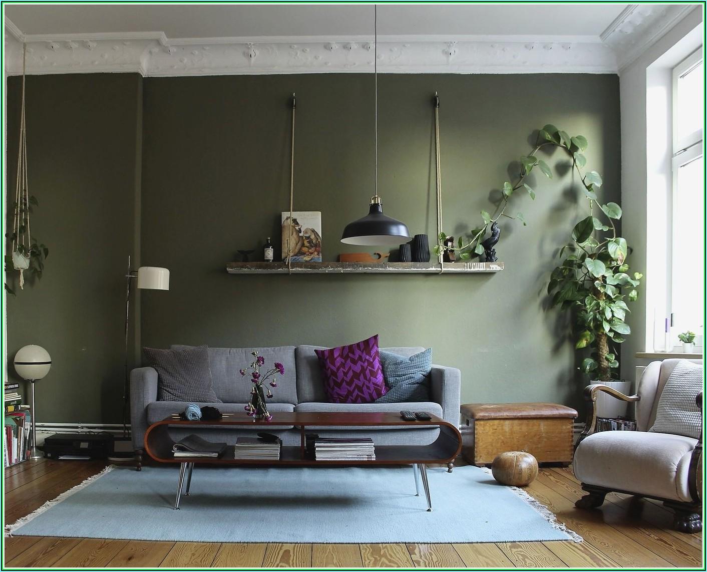 Wohnzimmer Deko In Grün