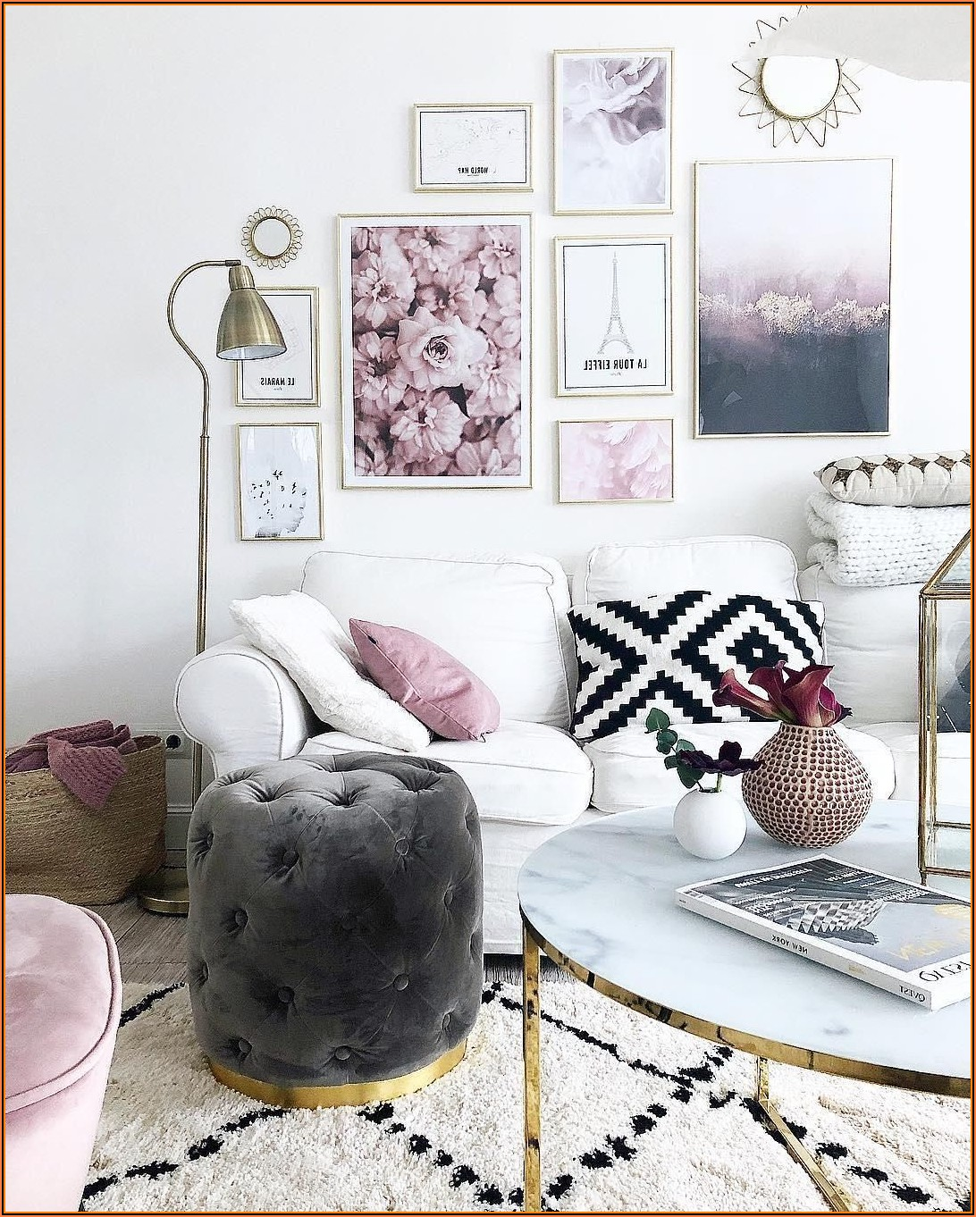 Wohnzimmer Deko In Rosa