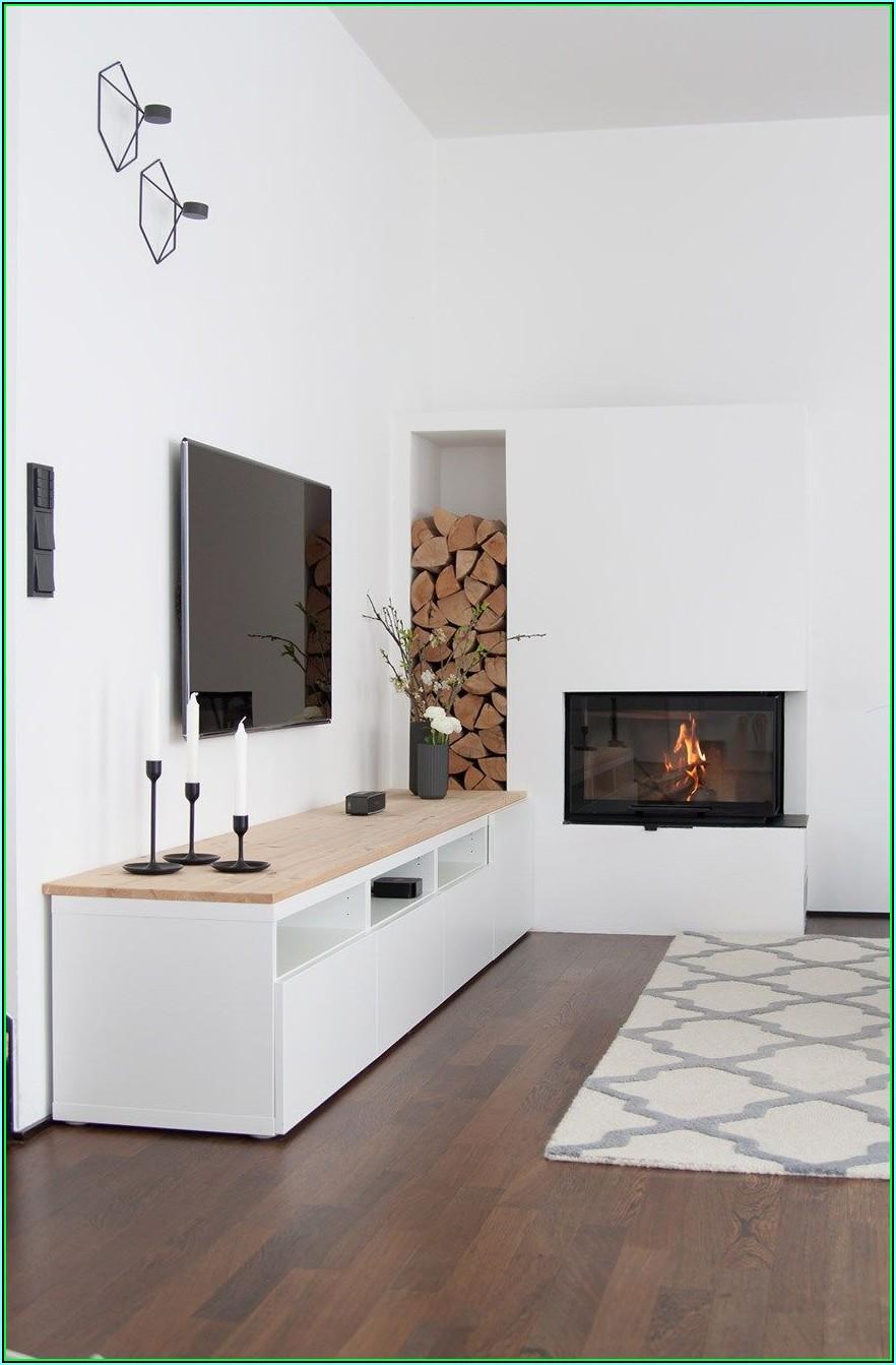 Wohnzimmer Deko Kamin