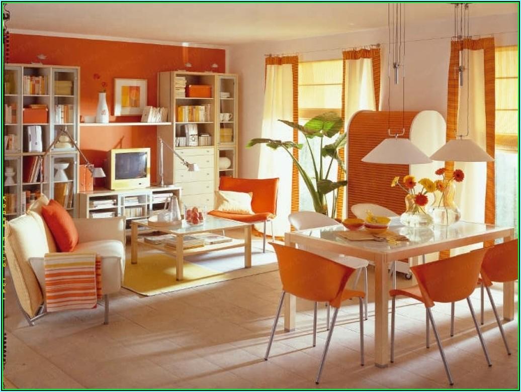 Wohnzimmer Deko Orange